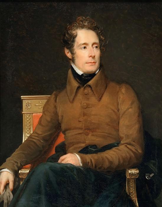 Baron François Gérard -- Alphonse de Lamartine. Château de Versailles