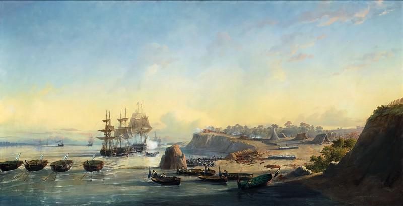 François-Pierre-Bernard Barry -- The Taking of the Batteries of Punto Obligado on 20 November 1845. Château de Versailles