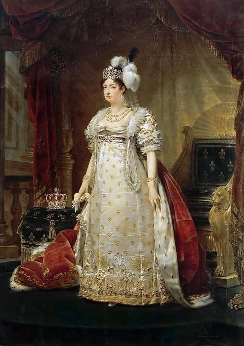 Antoine-Jean Gros -- Marie-Thérèse-Charlotte de France, Duchesse d'Angoulême, Madame Royale. Château de Versailles