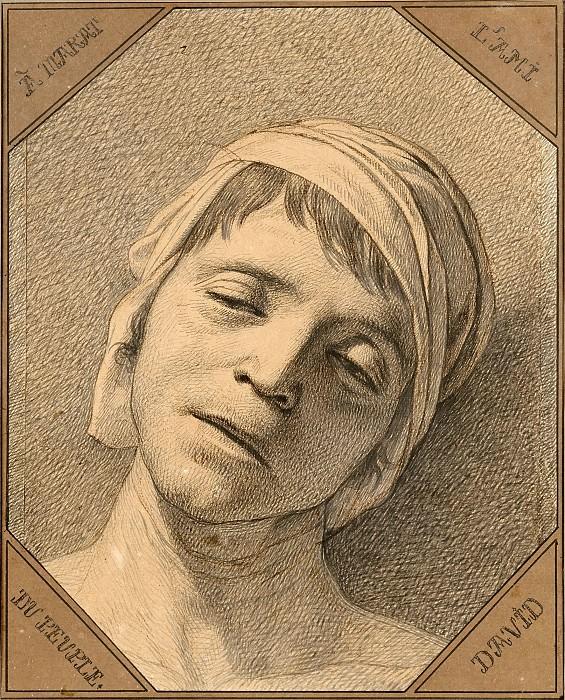 Голова мёртвого Марата. Жак-Луи Давид