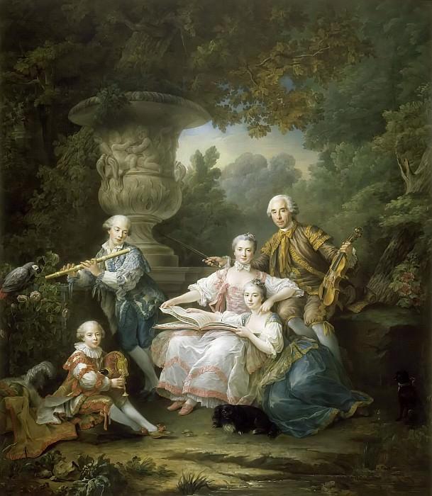 François Hubert Drouais -- La famille de Sourches, Yves-Marie du Bouchet, comte de Monsoreau. Château de Versailles