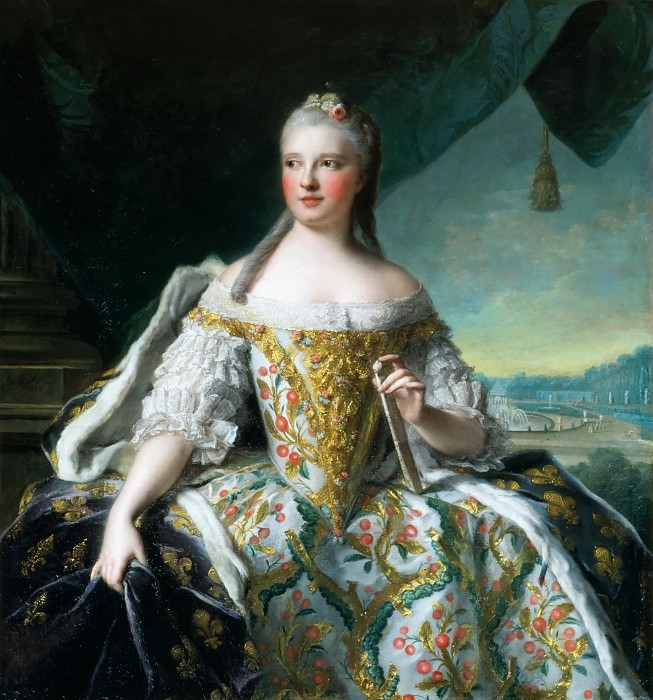 Jean-Marc Nattier -- Marie-Josephe of Saxony, Dauphine of France (1727-1752); also called Madame de France. Château de Versailles