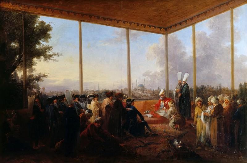 Francesco Giuseppe Casanova -- Audience Granted in Constantinople by the Grand Vizir Aimali Carac to the Comte de Saint-Priest on 18 March 1779. Château de Versailles
