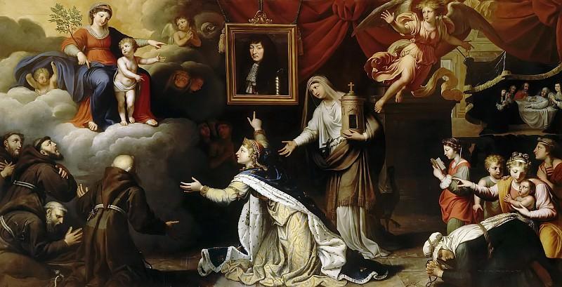Николя Миньяр -- Ex-voto Людовика XIV (вотивный портрет). Версальский дворец