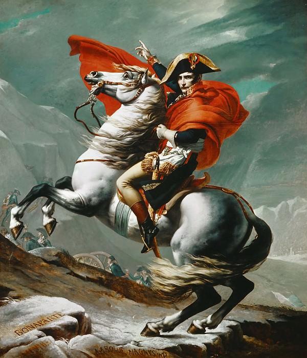 Jacques-Louis David -- Napoleon Crossing the Saint Bernhard Pass. Château de Versailles