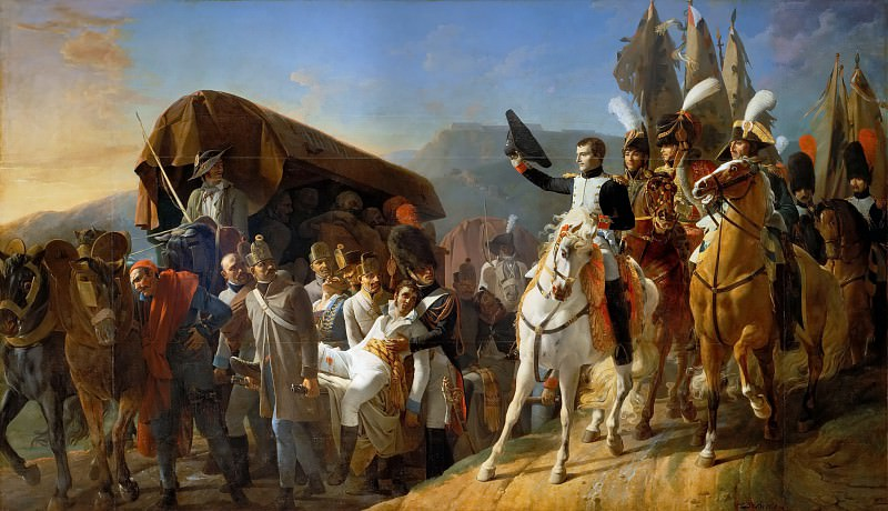 Jean Baptiste Debret -- Napoleon paying honor to unfortunate courage, October 1805. Château de Versailles