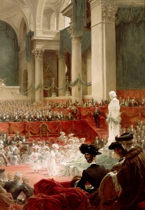 Théobald Chartran -- Celebration of the 100th Birthday of Victor Hugo at the Panthéon in Presence of the President Félix Loubet, 26 February 1902. Château de Versailles
