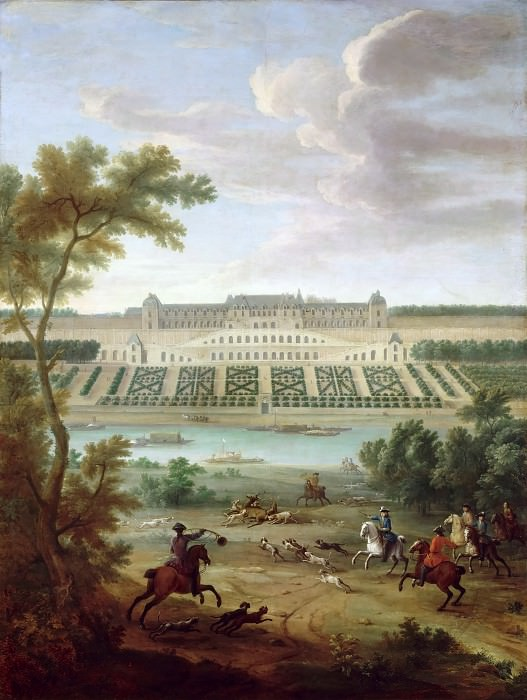 Jean-Baptiste Martin the elder -- View of the Chateau-Neuf at Saint-Germain-en-Laye, near the terraces. Château de Versailles