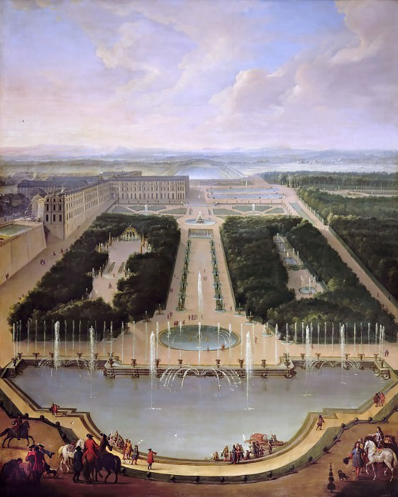 Jean-Baptiste Martin the elder -- Basin of the Dragon and of Neptune. Château de Versailles