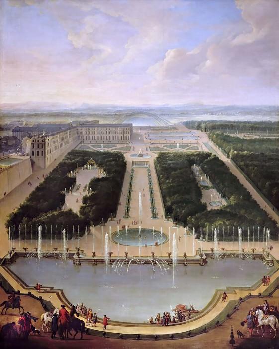 Жан-Батист Мартен -- Фонтан дракона и Нептуна в Версале. Версальский дворец
