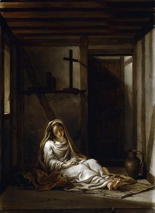 Antoine Coypel -- Sainte Thaïs dans sa cellule. Château de Versailles
