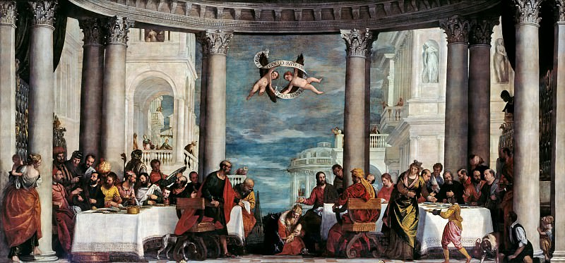Paolo Veronese -- The Feast in the House of Simon the Pharisee. Château de Versailles