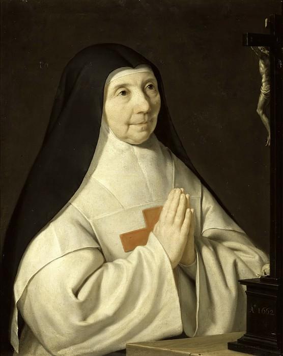 Champaigne (de), Philippe -- Jeanne-Catherine-Agnès Arnauld, abbesse de Port-Royal. Château de Versailles
