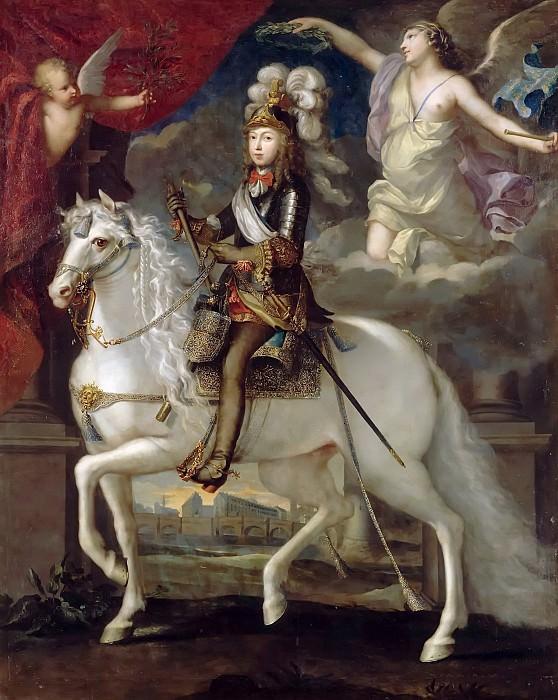 French painter -- Louis XIV, King of France and Navarre (1638-1715). Château de Versailles