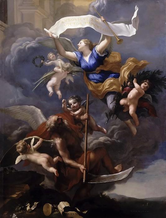 Franceschini, Baldassare -- La gloire de Louis XIV triomphe du Temps. Château de Versailles