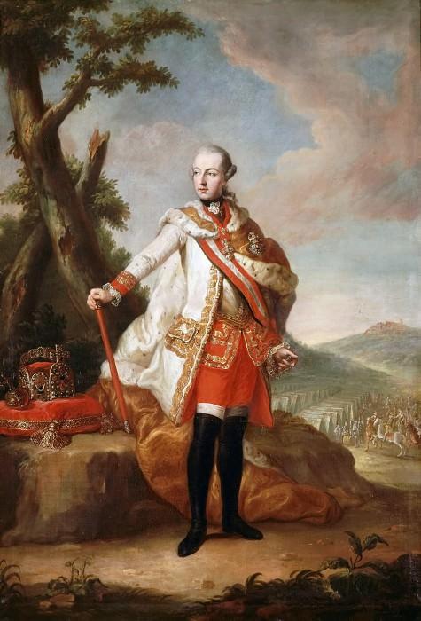 Attributed to Anton von Maron -- Portrait of Joseph II, Emperor of Austria (1741-1790), wearing the Order of the Golden Fleece. Château de Versailles