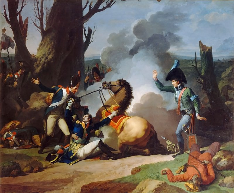 Jean François Pierre Peyron -- Death of General Valhubert, 2 December 1805. Château de Versailles