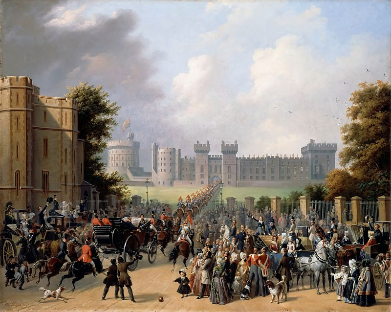 Edouard Pingret -- Arrival of King Louis-Philippe at Windsor Castle, 8 October 1844. Château de Versailles