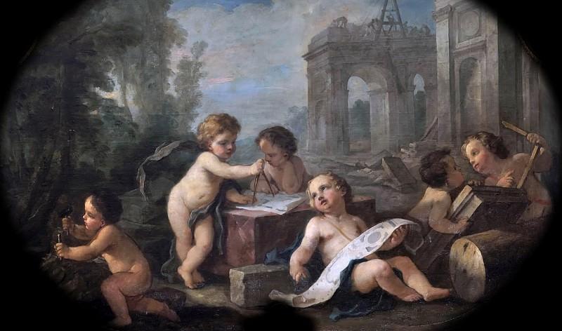 Natoire, Charles-Joseph -- L'Architecture. Château de Versailles