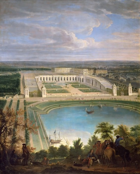 Jean-Baptiste Martin the elder -- View of the Orangerie. Château de Versailles