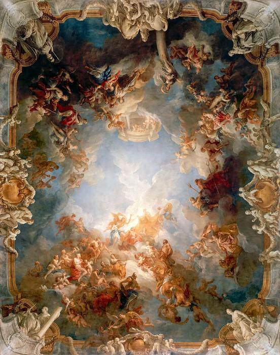 Франсуа Лемуан -- Апофеоз Геркулеса, фреска. Версальский дворец