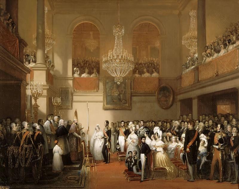 Court, Joseph-Désiré -- Mariage de Léopold Ier et de la princesse Louise d'Orléans au château de Compiègne, 9 août 1832. Château de Versailles