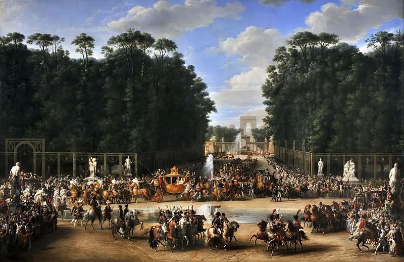 Garnier, Etienne-Barthélémy -- Entrée de Napoléon et de Marie-Louise dans le jardin des Tuileries, 2 avril 1810. Château de Versailles
