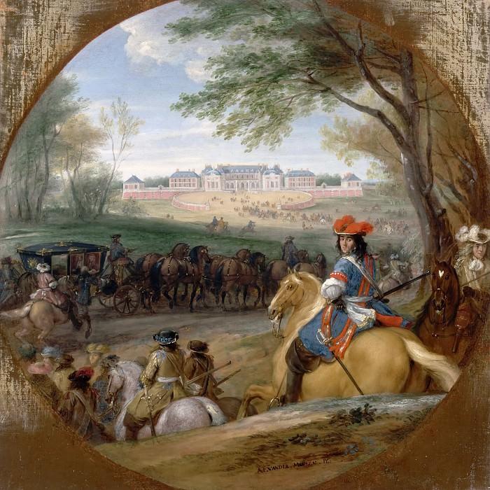 Мейлен, Адам Франс ван дер -- Вид на дворец Версаль в 1669 году. Версальский дворец