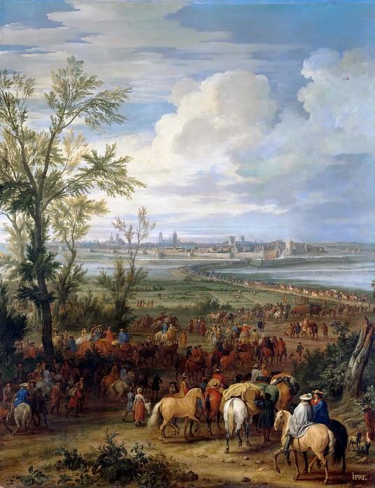 Pierre-Denis Martin after Adam Frans van der Meulen -- Taking of Ypres, 19 March 1678. Château de Versailles
