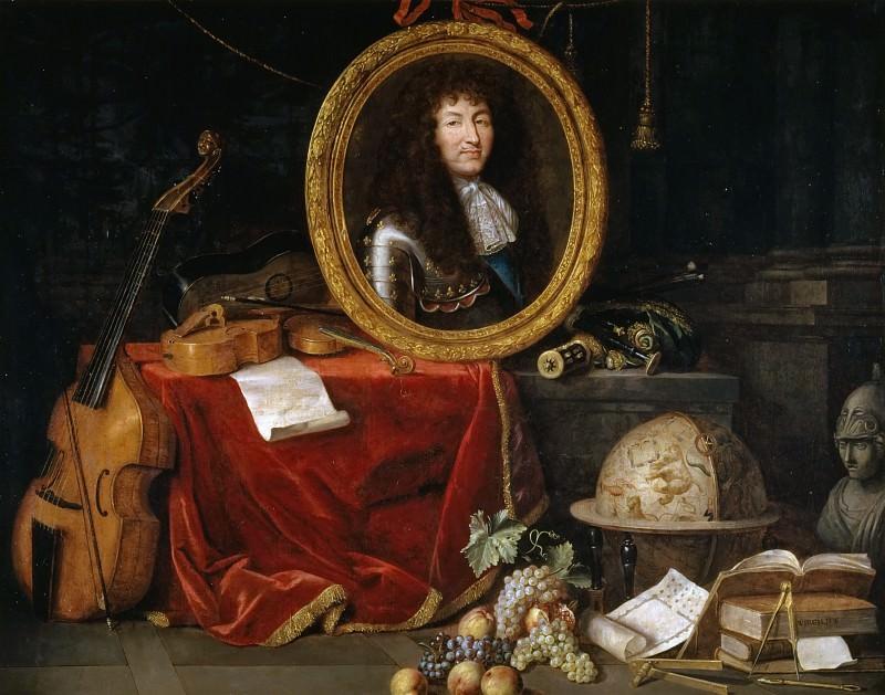 Jean Garnier -- Allegory of Louis XIV, Protector of the Arts and Sciences. Château de Versailles