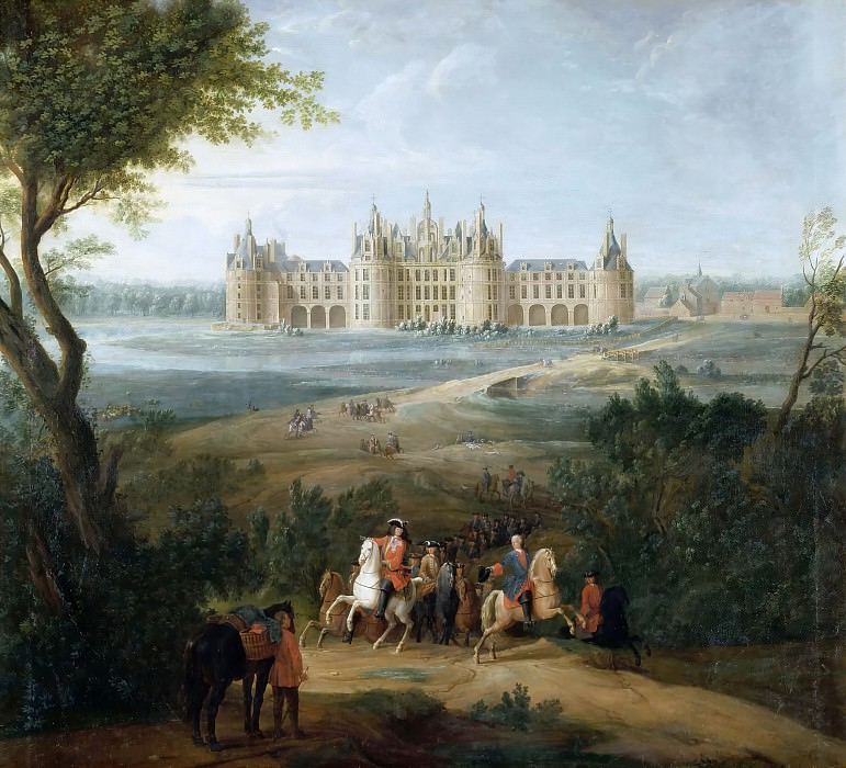 Pierre-Denis Martin -- View of the chateau at Chambord, from the park. Château de Versailles