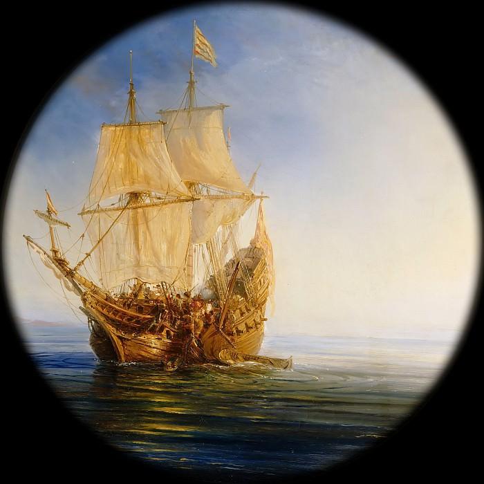 Théodore Gudin -- A Spanish Galleon taken by the Pirate Pierre Legrand near the Bahamas, 1643. Château de Versailles