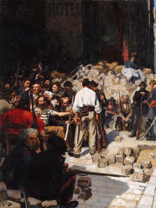Andre Devambez -- The Barricade, Commune of Paris, May 1871. Château de Versailles