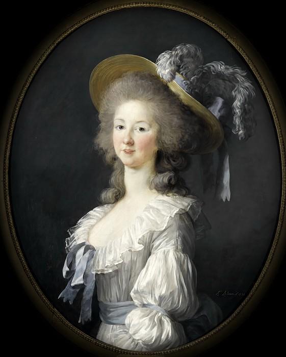 Marie-Thérèse-Louise de Savoie-Carignan, princesse de Lamballe. Élisabeth Louise Vigée Le Brun