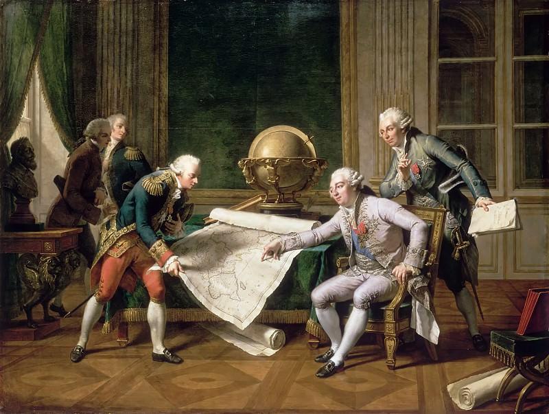 Nicolas André Monsiaux -- Louis XVI giving instructions to La Perouse, 29 June 1785. Château de Versailles