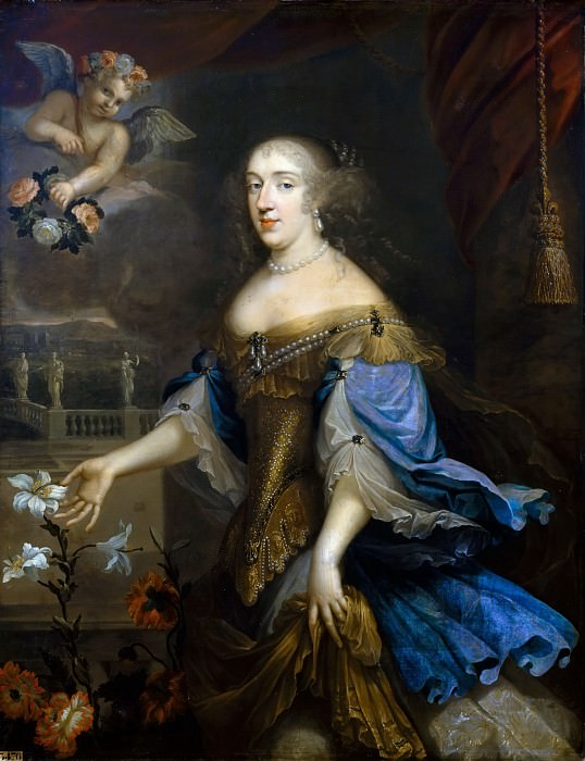 Anonymous French painter of the school of Pierre Mignard I -- Anne-Marie-Louise d'Orleans, Duchess of Montpensier, called 'La Grande Mademoiselle'. Château de Versailles