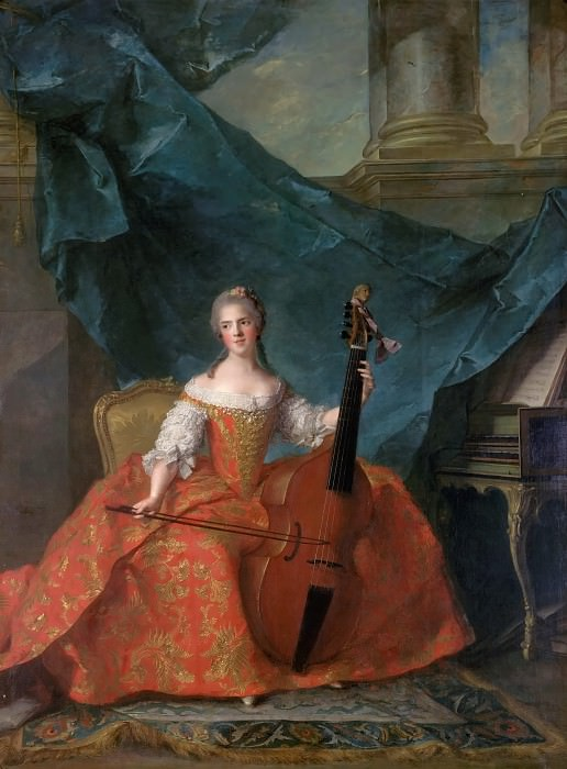 Jean-Marc Nattier -- Anne-Henriette of France, called Madame Henriette (1727-1752). Château de Versailles