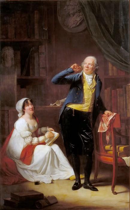 Danloux, Henri-Pierre -- Jacques Delille and his wife. Château de Versailles