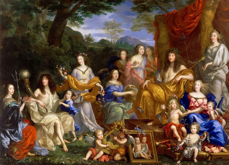 Jean Nocret I -- The family of Louis XIV. Château de Versailles
