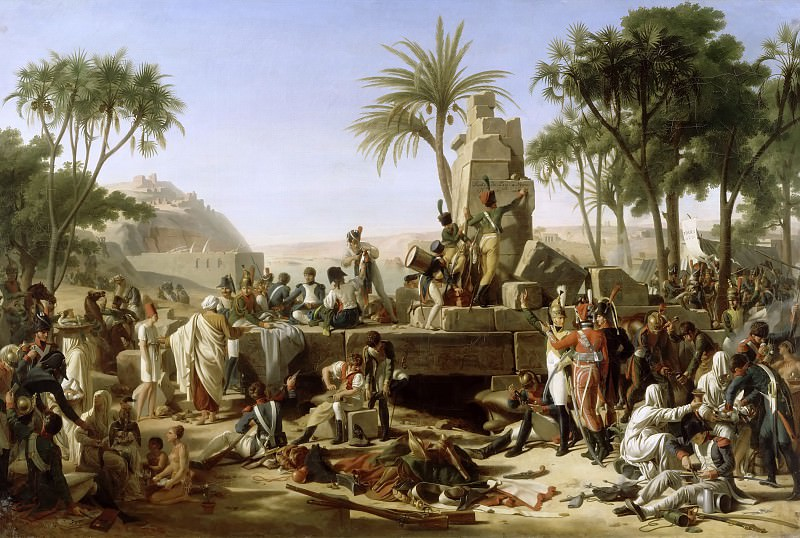 Jean-Charles Tardieu -- French army bivouac in Aswan, Egypt. Château de Versailles