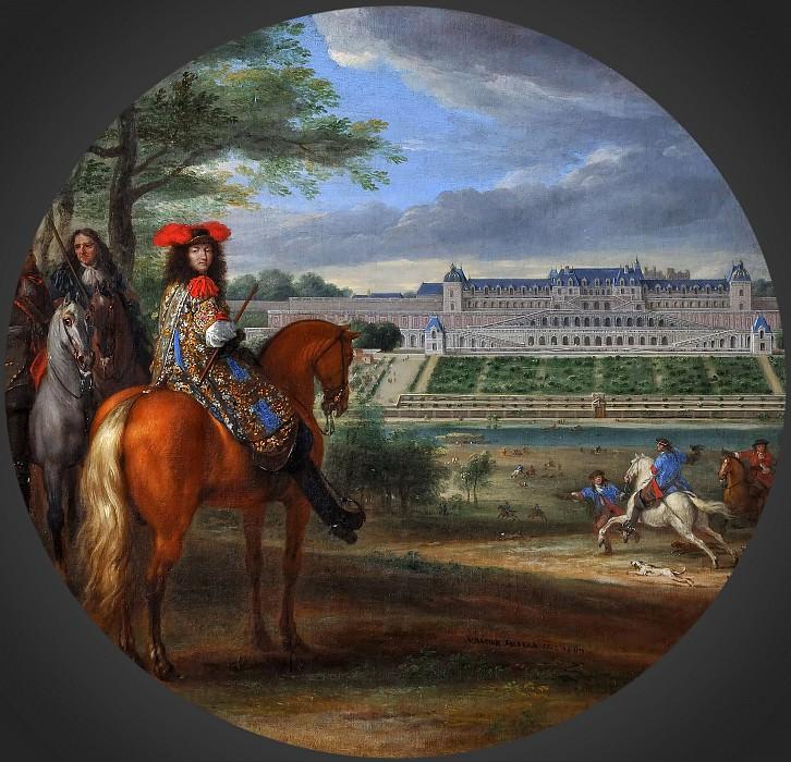 Мейлен, Адам Франс ван дер - Людовик XIV и маршал Тюрен в виду Шато-нёф и террас в Сен-Жермен-ан-Лэ в 1669 году. Версальский дворец