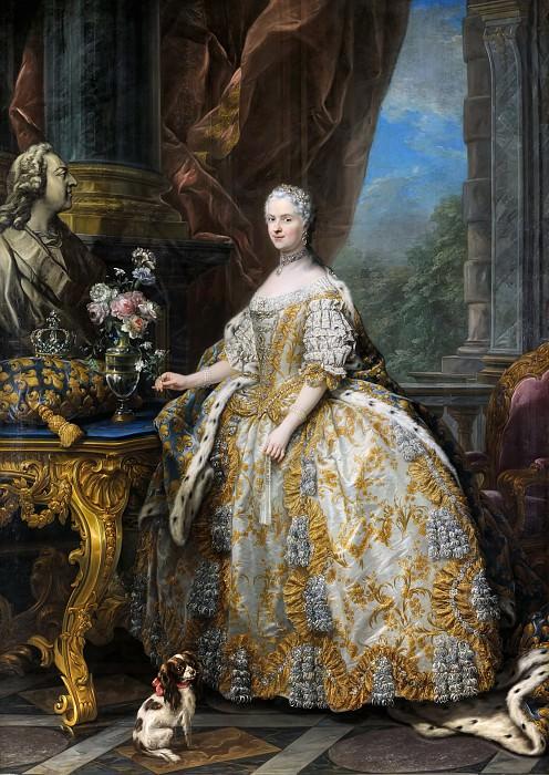 Charles André van Loo -- Marie Leszczinska, Queen of France (1703-1768). Château de Versailles