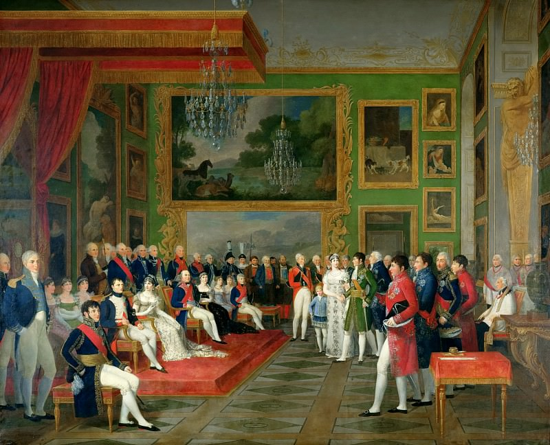 Francois-Guillaume Menage -- Wedding of Prince Eugene of Amelia Bavaria in Munich January 13, 1806. Château de Versailles