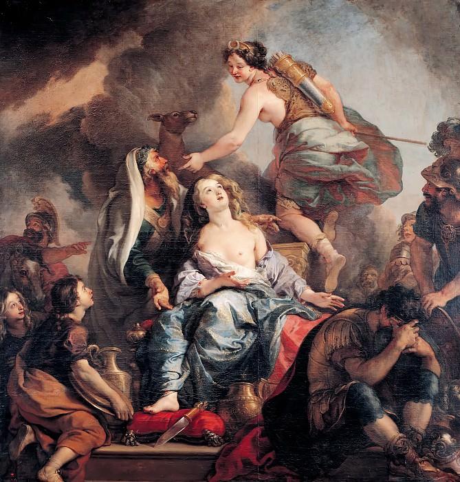 Charles de la Fosse -- The Sacrifice of Iphigeneia. Château de Versailles