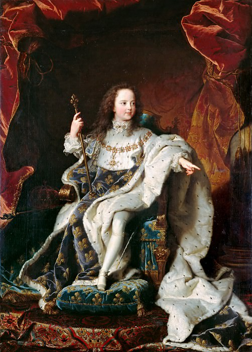 Hyacinthe Rigaud (1659-1743) -- Louis XV (1710-1774) as a Child. Château de Versailles