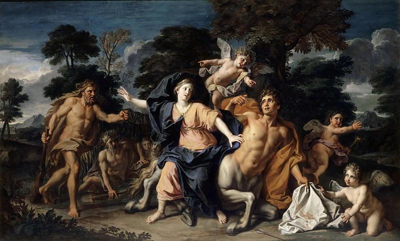 Coypel, Noël -- Enlèvement de Déjanire par le centaure Nessus. Château de Versailles