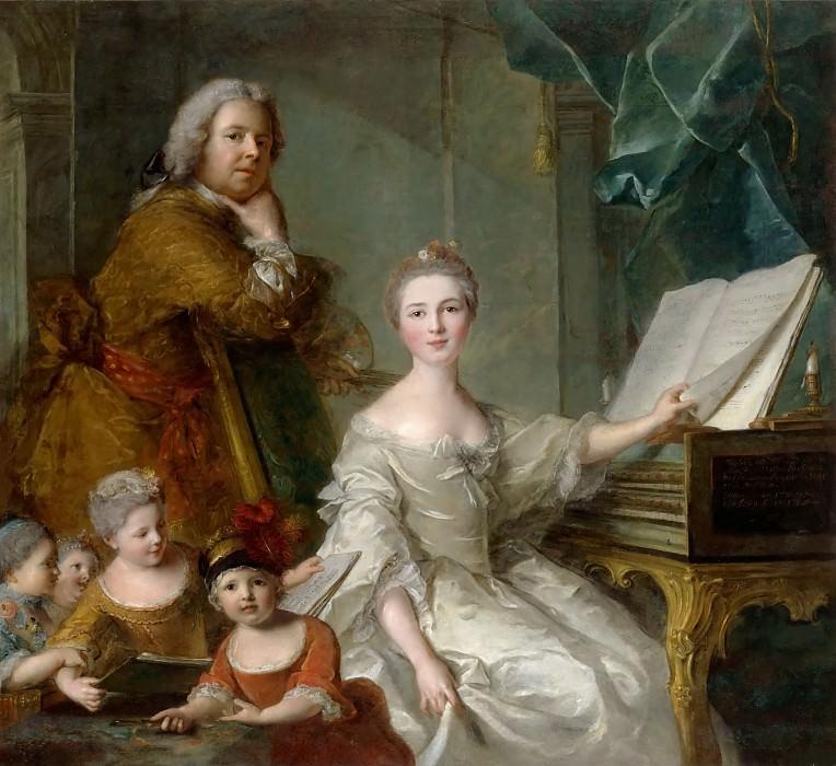 Jean-Marc Nattier -- Jean-Marc Nattier and his family. Château de Versailles