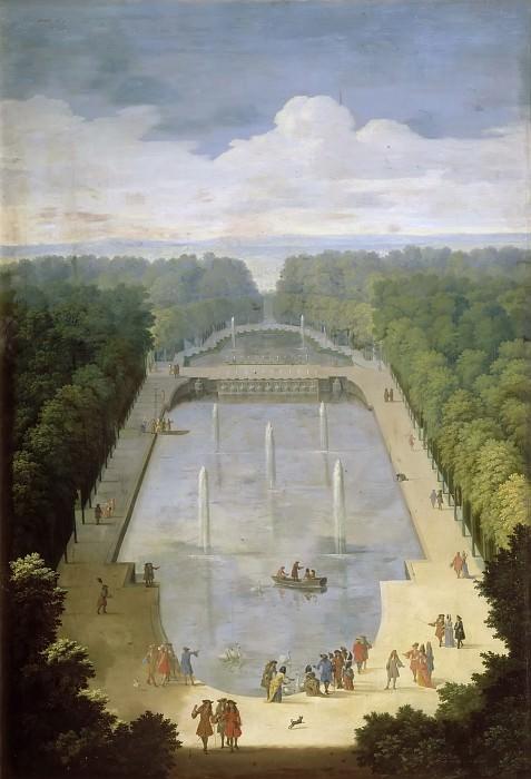 Этьен Аллегрен -- Вид в Версале. Версальский дворец