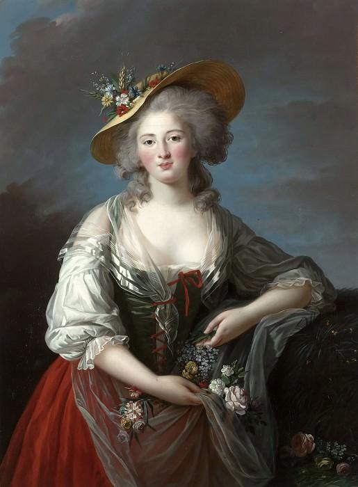 Elisabeth Vigée-Lebrun -- Madame Elisabeth, Princess of France. Château de Versailles