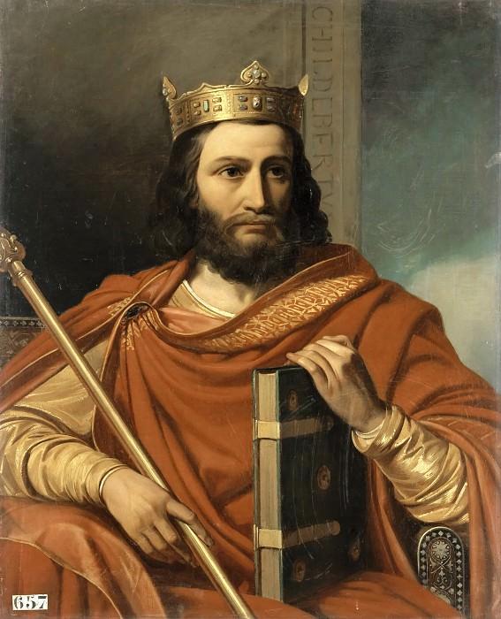 Jean-Louis Besar -- Childebert Ier, roi des Francs. Château de Versailles